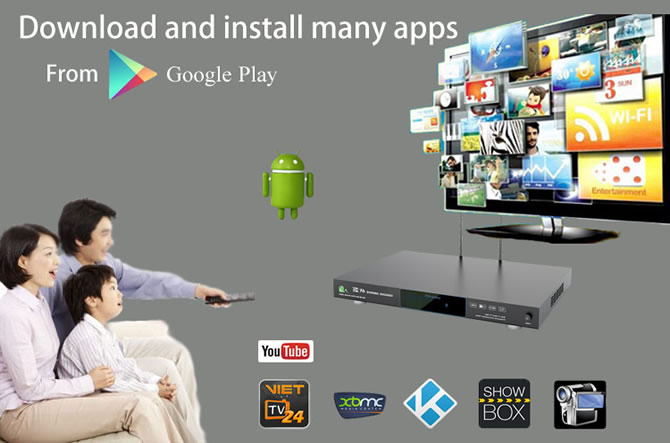 install apps into android system of machine
