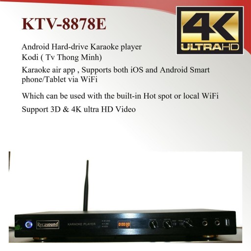 Android KTV-8878E Vietnamese karaoke player 6tb Hardrive with 50000 songs