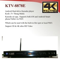 Android KTV-8878E V2  Vietnamese karaoke player 6tb Hardrive with 69000 songs