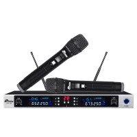 IDOLpro UHF-390 Dual Professional Wireless Interface Microphone System w/ DPLL multi channels