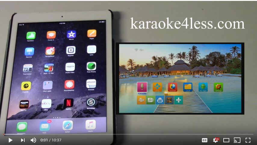 how to using the iphone Ipad to control the ktv-8878e karaoke player